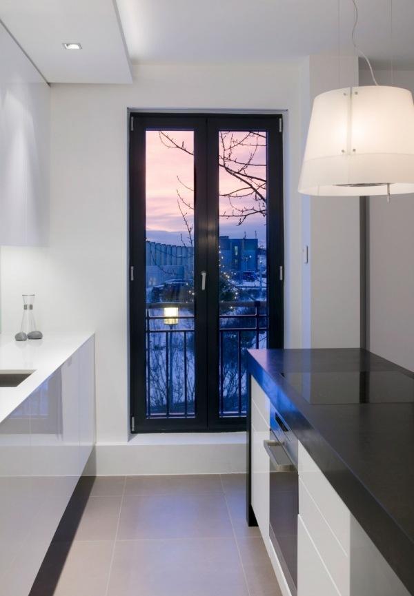 Kleines Apartment in Reykjavik designt komplett in schwarz und wei