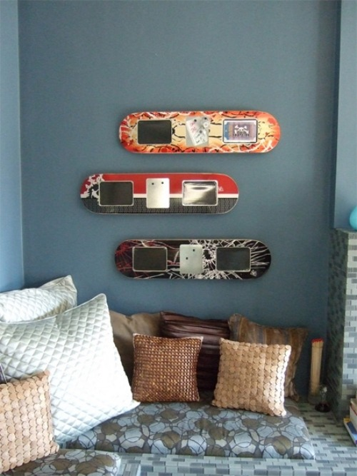 Ideen fr Upcycled Mbeldesign  Einrichtung aus Skateboard Teilen
