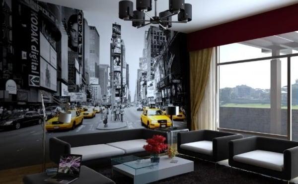 Fototapete wohnzimmer schwarz weiss  Schwarz Weis Wohnzimmer Bilder | Haus Design Ideen