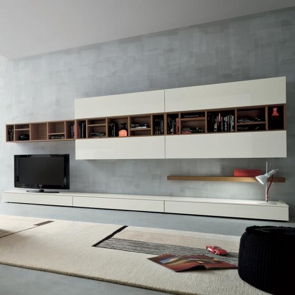 Die moderne Wohnwand im Wohnzimmer  Exklusive Ideen von DallAgnese