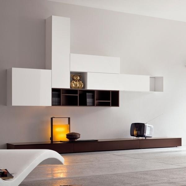Wohnzimmer Moderne Wohnwand Im Wohnzimmer L
