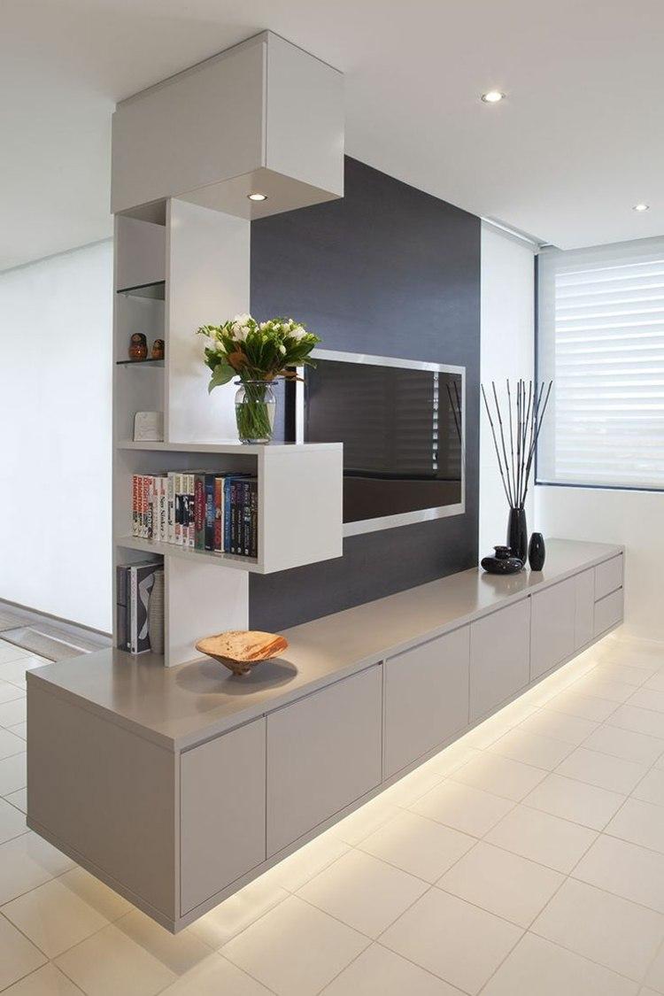 Fernsehwand Ideen Moebel Wohnzimmer