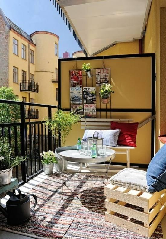 Balkon im Sommer  farbenfrohe Deko Ideen fr den Auenbereich
