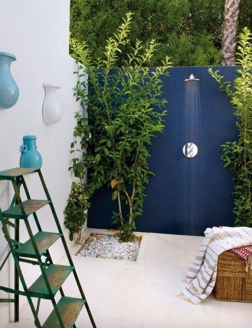 Dusche F R Den Garten Solar Wie Wasserfall Und Mit Sichtschutz ... Wasserfalle Fur Den Garten