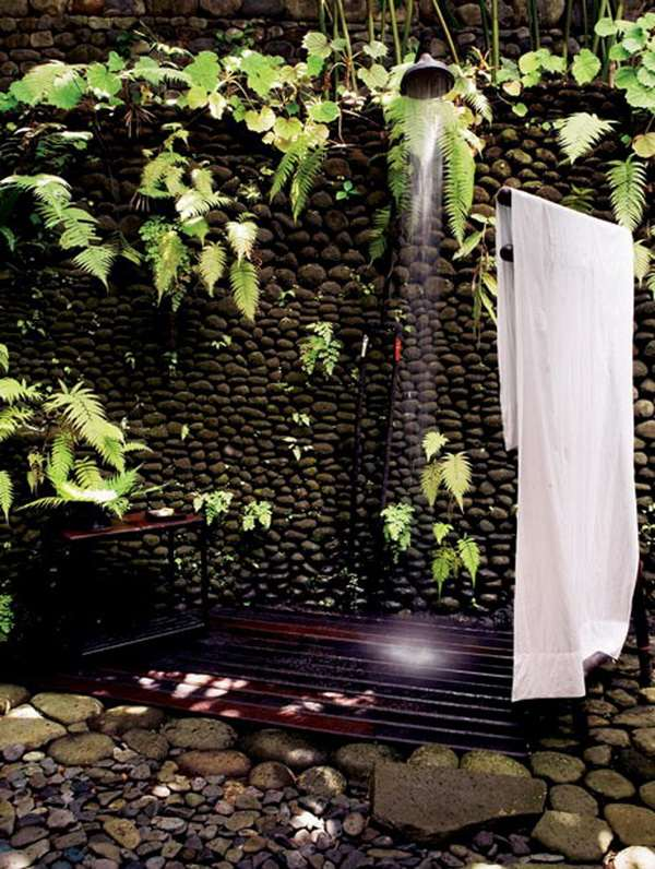 die dusche fur den garten solar wie wasserfall und mit sichtschutz, Badezimmer