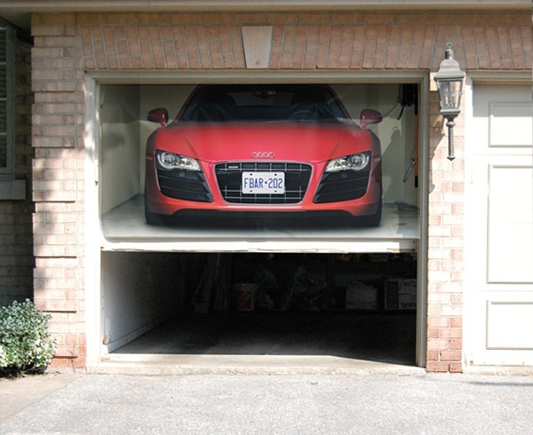 Garagen Rolltore  Individuelle Gestaltung mit 3DWandstickern