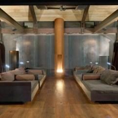 Open Plan Kitchen Living Room Flooring Ideas Decorating Cream Couch Haus Aus Holz Und Stahl Bietet Wohnen Im Einklang Mit Der ...