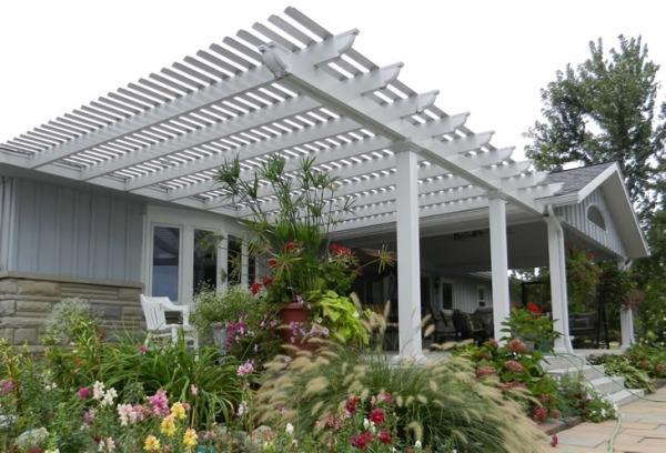 auswahl materialien terrassenuberdachung – usblife, Gartengerate ideen