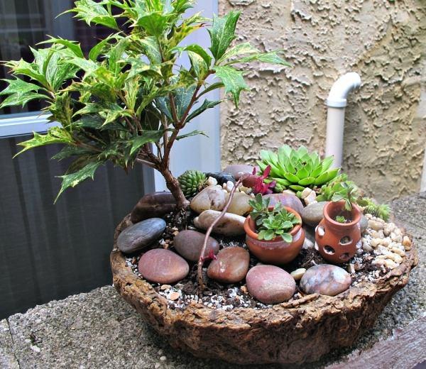 garten ideen zum selbermachen blumen im korb bepflanzen deavita, Gartengerate ideen