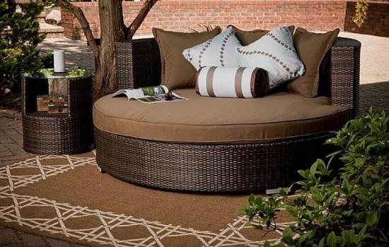 modular sofa set modern contemporary bed lounge möbel für garten und terrasse - runde formen trendig