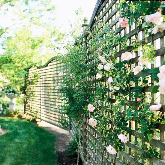 Sichtschutz im Garten  Holz Konstruktionen und Sichtschutzzune