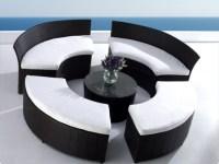 Lounge Mbel fr Garten und Terrasse - runde Formen trendig