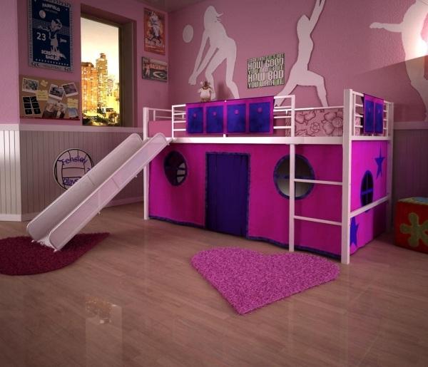 Hochbett mit Rutsche  Einrichtungsideen fr Kinderzimmer