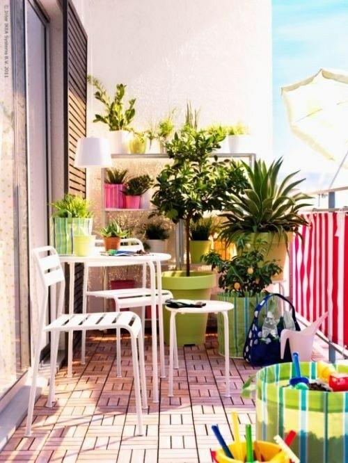 balkon sichtschutz gestaltung ideen im feng shui stil balkon idee, Terrassen deko