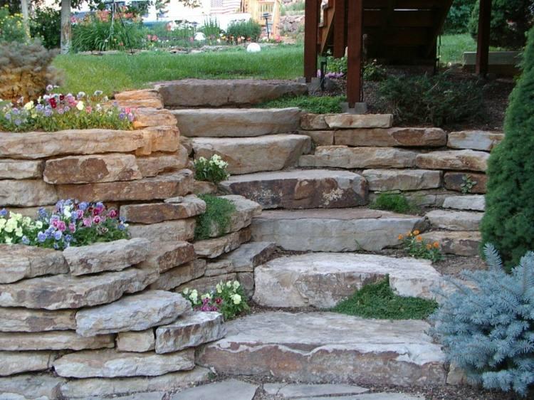17 tolle Ideen fr Gartenmauer aus Naturstein fr den Garten