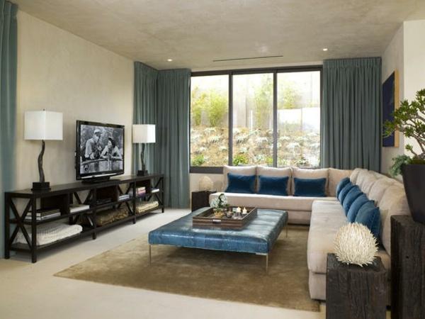 Deko Blau Interieur Idee Wohnung - Ideen für die Wohnraumgestaltung ...
