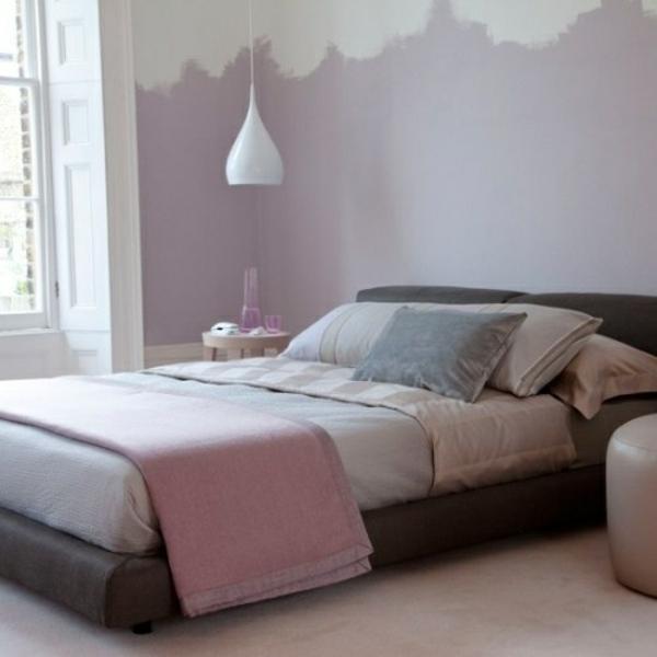design wohnzimmer grau lila streichen wand streichen ideen lila ... - Schlafzimmer Lila Grau