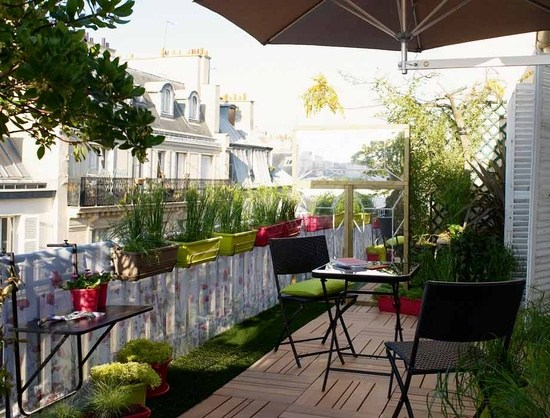 sichtschutz balkon holz gitter laube dachterrasse sichtschutz fur, Gartengerate ideen