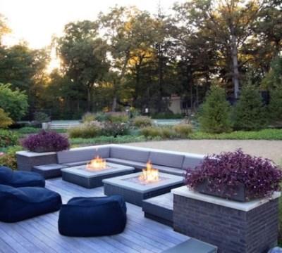 sitzsack im garten einrichten -den patio bereich komfortabel gestalten