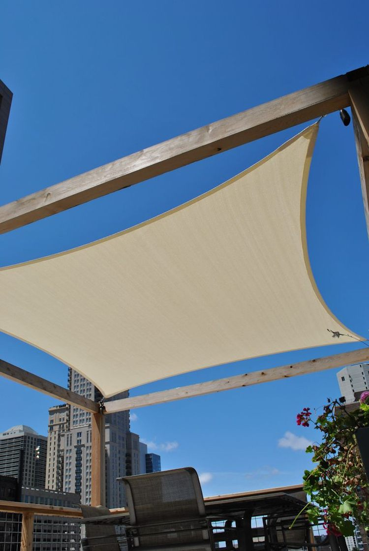Sichtschutz Terrasse Terrassenbeschattung Sonnensegel Creation De
