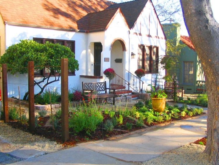 vorgarten gestaltung landschaftsbau wuestengarten pflanzen steine, Garten dekoo