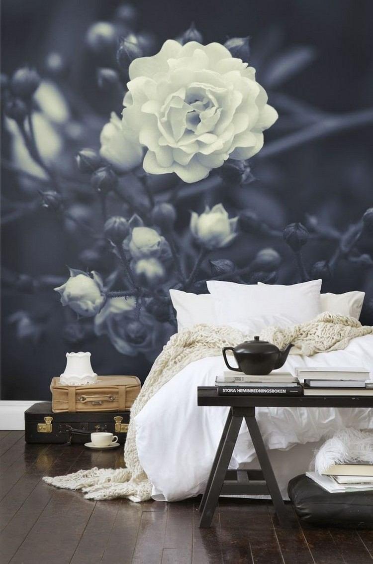 18 Ideen fr Wandgestaltung im Wohnzimmer mit Blumen