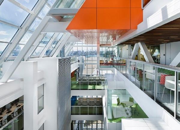Moderne Hauptquartiere weltberhmter Firmen mit coolem