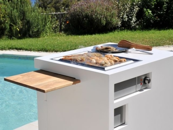 Mobile Mini Outdoor Kche  Sommer GrillParty am Pool oder im Garten