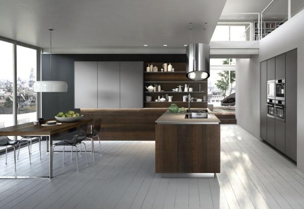 20 Ideen fr Holz Kche in modernem Design und warmen Farbton