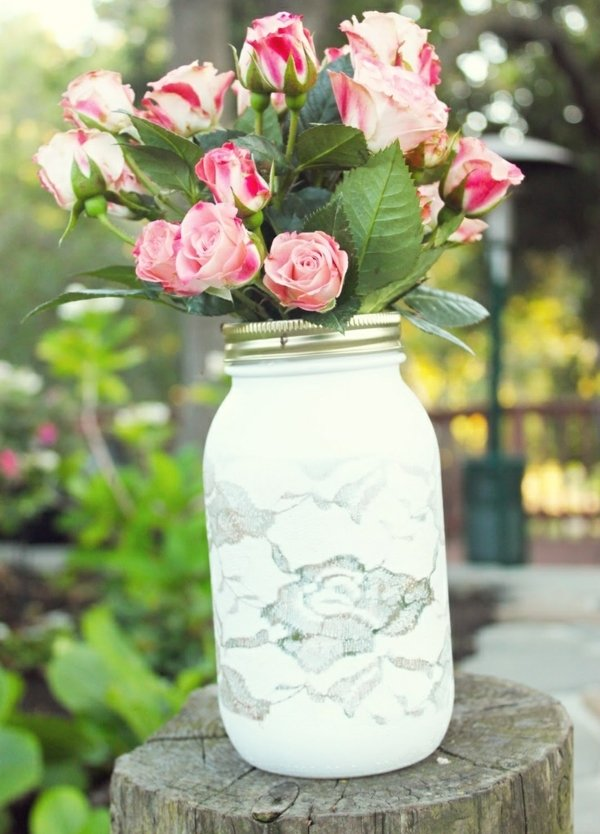 Frhling und Sommer Deko selber machen  20 originelle Vasen