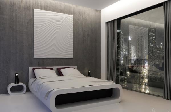 sehr coole ideen fuer effektvolle schlafzimmer wandgestaltung, Badezimmer