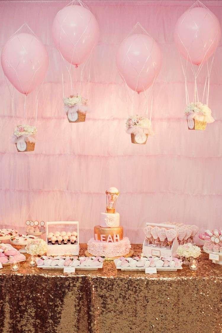 Baby Geburtstag feiern  schne Deko Ideen fr Mdchen