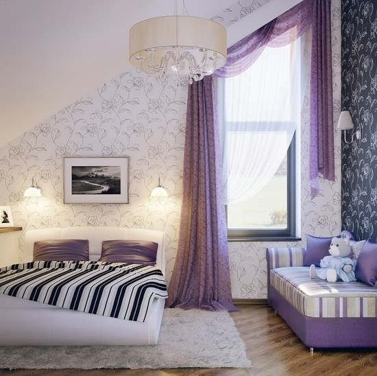 Lila Schlafzimmer gestalten  28 Ideen fr Interieur in Fliederfarbe