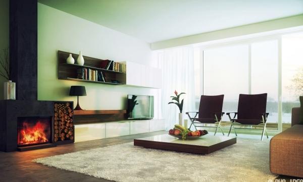 Minimalismus Im Wohnzimmer  Symbolisch Für Modernes
