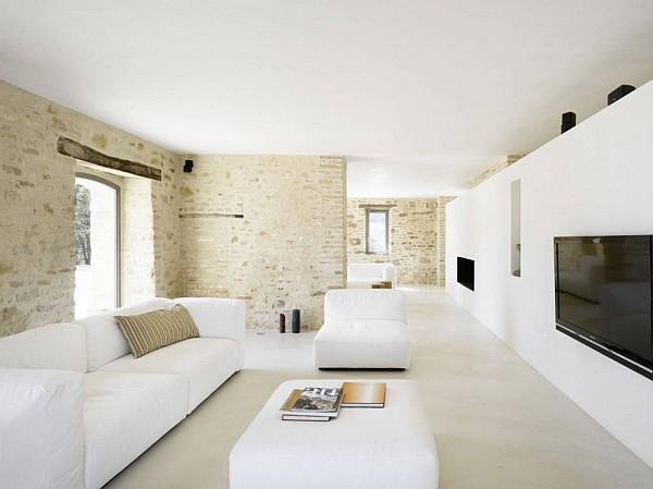 Pur weies Wohnzimmer und Minimalismus  20 moderne Wohnideen