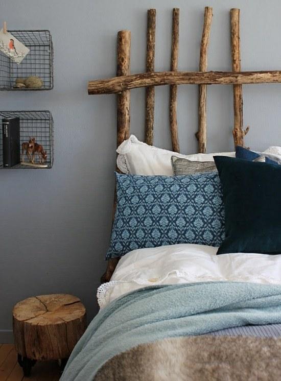 20 originelle Ideen wie Sie Bett Kopfteil selber machen