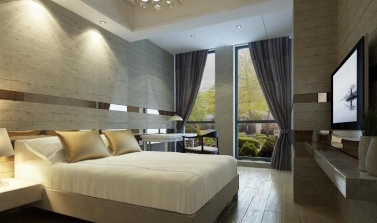 ideen fur effektvolle schlafzimmer wandgestaltung   möbelideen, Badezimmer