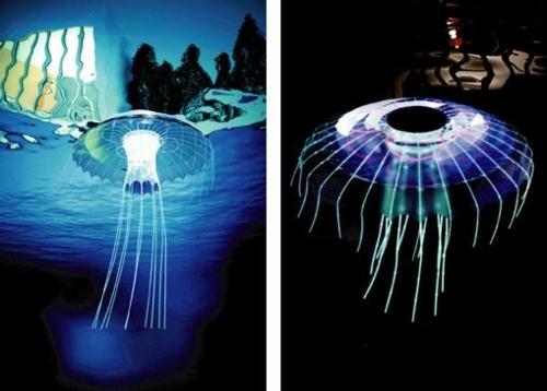 LED Lampe in Form einer Qualle verstreut sanftes Licht  die Meduse