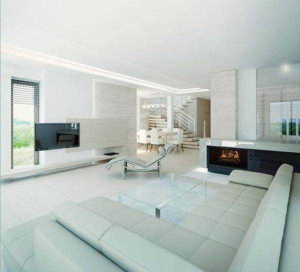 design moderne wohnzimmer grau weiss wohnzimmer wei einrichten, Mobel ideea