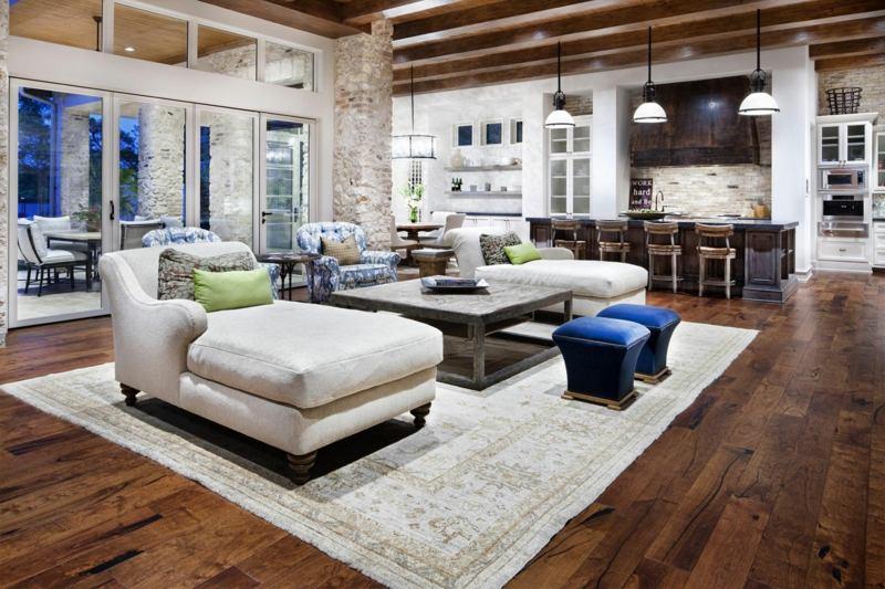 rustikale einrichtung ideen f r ein wohnzimmer im landhausstil, Mobel ideea