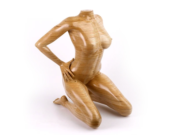 Skulpturen aus Holz sind funktionelle Mbel  Design von