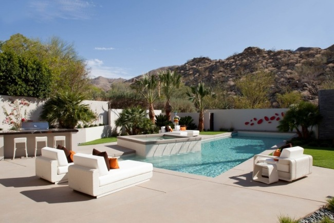 rattan lounge mobel pool bereich terrasse wei
