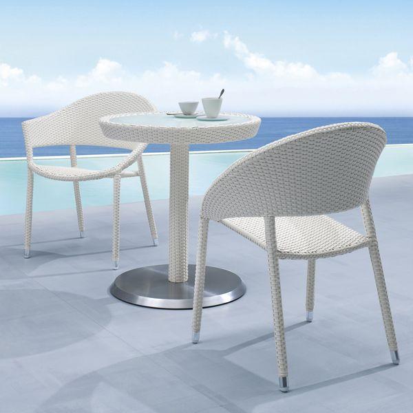 Rattan Gartenmobel Wei Kaffeetisch Stuhle
