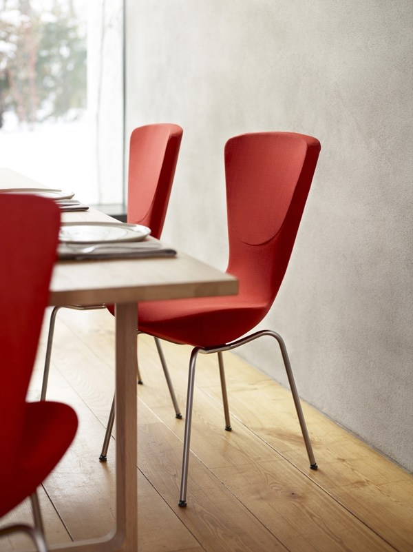 rote esszimmer stuhle | ambrid, Esszimmer