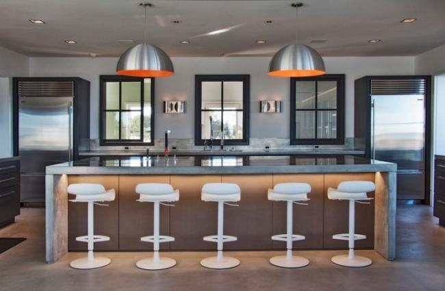 kuche mit arbeitsplatten und kuchenruckwand aus marmor | sichtschutz, Kuchen ideen