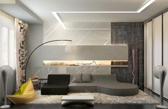 Wohnideen Design Wandfarbe Grau Modern Gemutlich - Boisholz