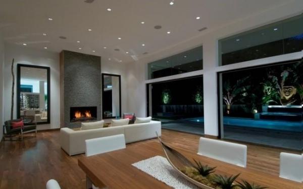 wohnzimmer decke gestalten - boisholz - Moderne Deckenverkleidung Wohnzimmer