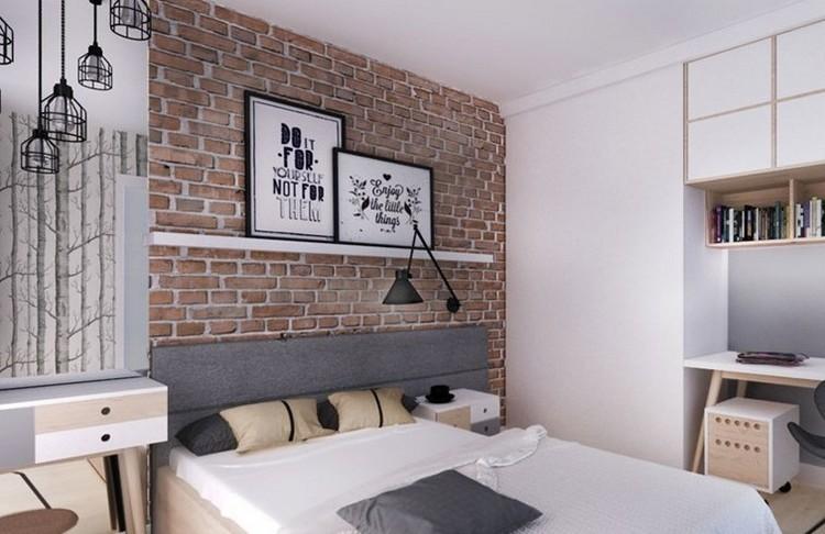 attraktive wandgestaltung hochglanz einbauleuchten hinter bett, Badezimmer
