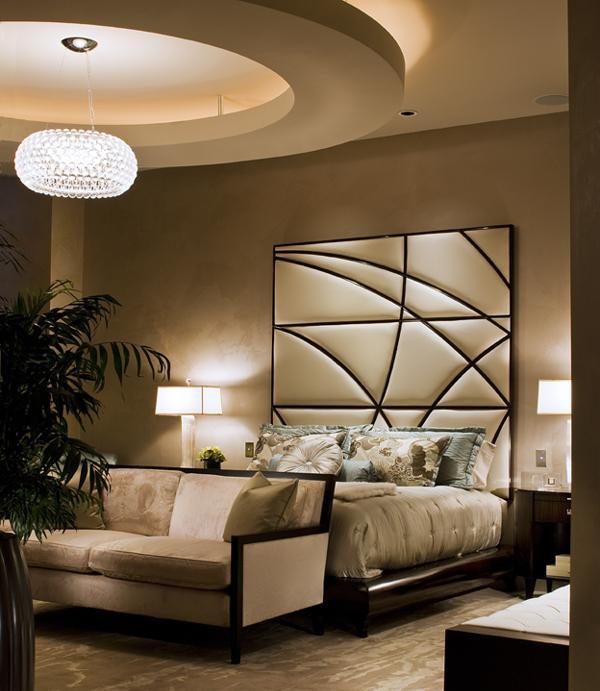 Wandgestaltung Hinter Dem Bett: Wandgestaltung mit gemusterten ...