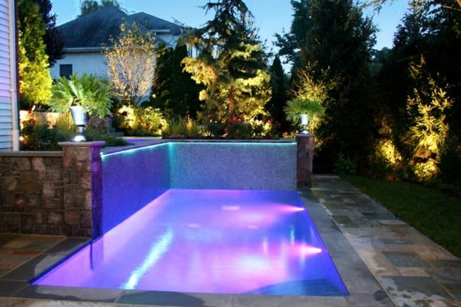 Klein Pool Garten Led Lichterkette Lila Blau